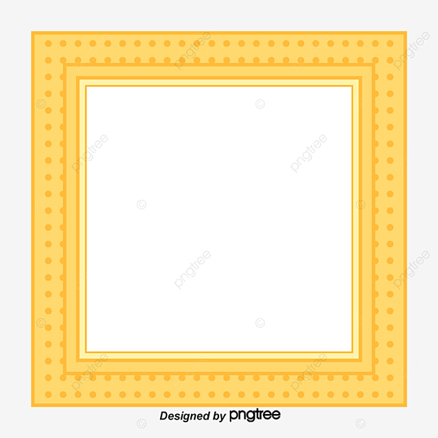 Light Blue Dotted Cartoon Hand Painted Square Frame Clipart