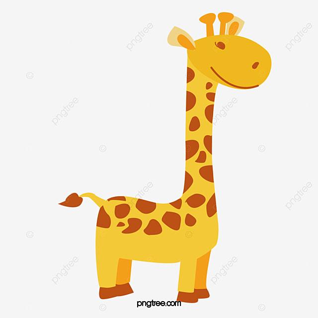 Cartoon Cute Giraffe Vector PNG And