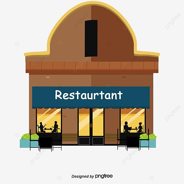 Cartoon Restaurant Commercial Shop Renderings Store
