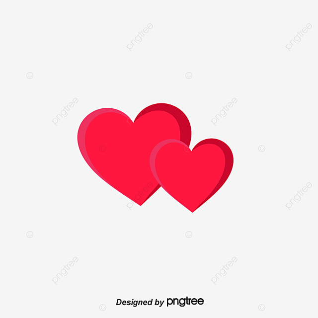 Red Double Heart Heart Vector Heart Clipart Vector Png And Vector