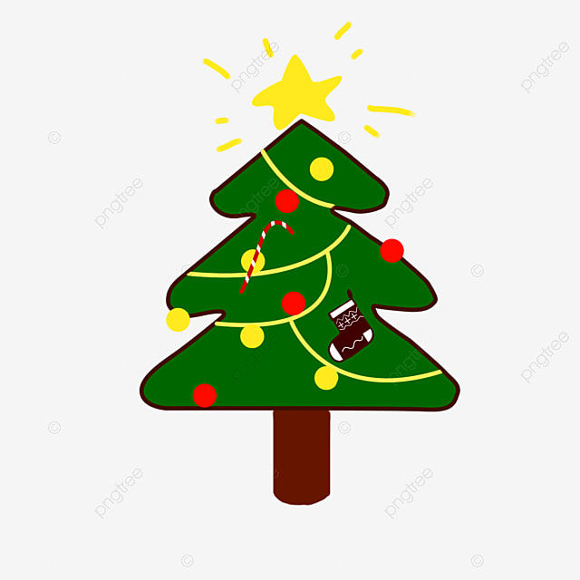 Green Christmas Tree Decoration Pattern Clipart Simple PNG Image And