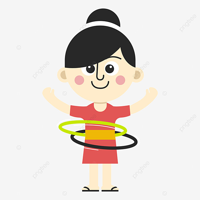the girl who shakes the hula hoop movement hula hoop little girl rh pngtree com girl playing hula hoop clipart hula hoop pictures clip art