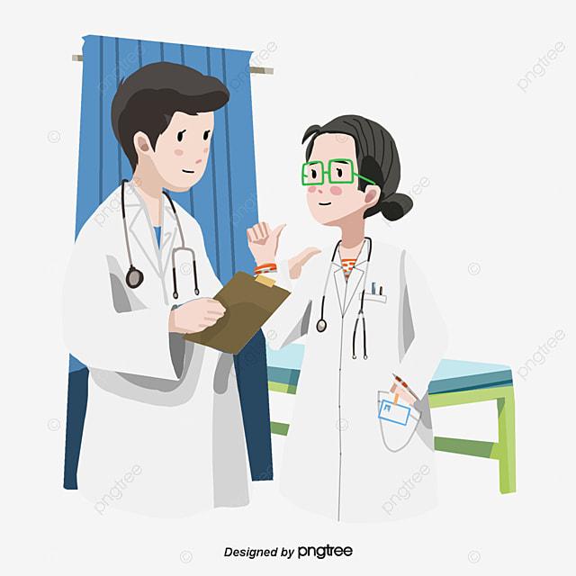 vector blue medical hospital pharmacist vector cartoon