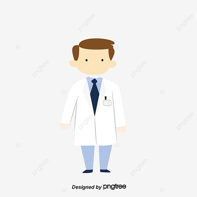 vector blue medical male pharmacist vector cartoon