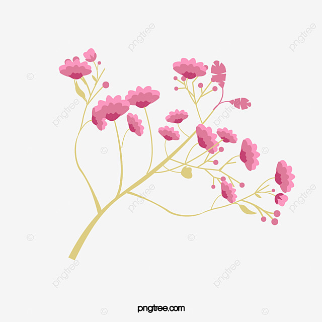 Pink Hand Painted A Small Flower Decoration Pattern Little