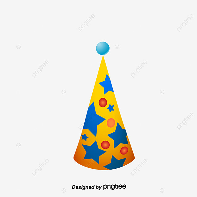 cartoon birthday hat birthday clipart vector material mito rh pngtree com birthday hat vector flat birthday hat vector free download