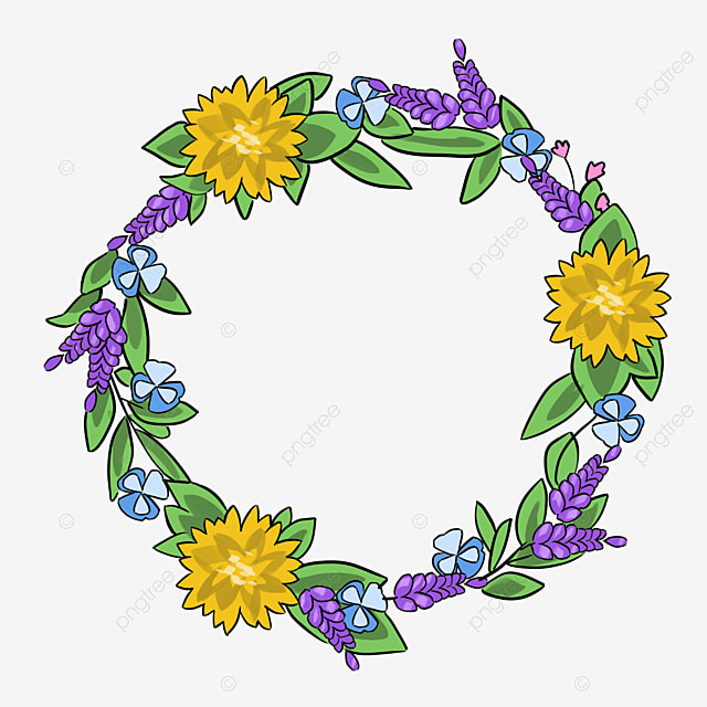 Colorful Simplicity Flower Vine Circle Border Texture ...
