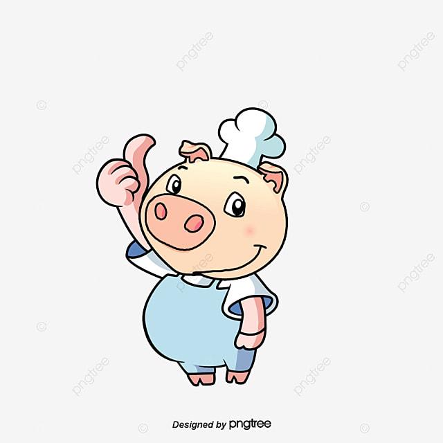 petit cochon cuisinier vecteur cochonnet cuisinier fichier