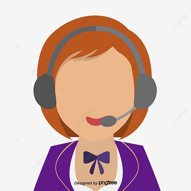 vector call center female customer service vector diagram