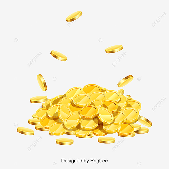 spilled gold coins gold gold coin stack png image and