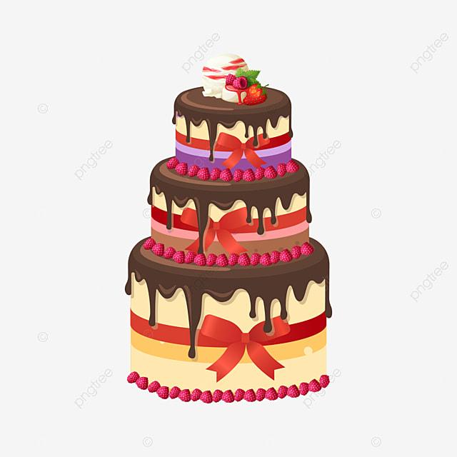 Cartoon Birthday Cake Decoration Pattern Birthday Clipart Cake