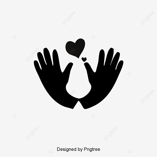 Cute Hands Care Vector Heart Health Wedding Elements