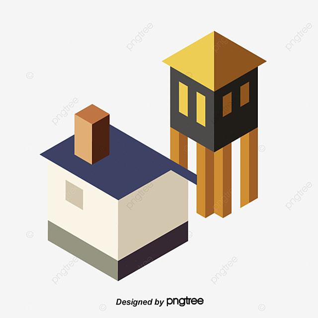 Construir una casa edificio ilustraci n cubierta de piso - Casa materiales de construccion ...