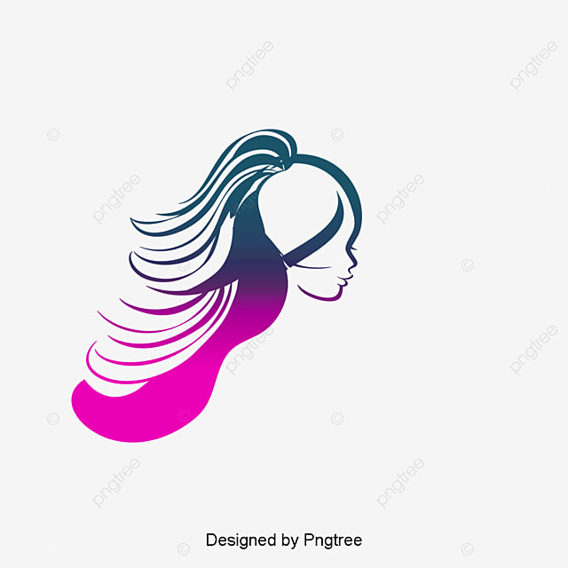 Color simple hair hair vector, Hair Silk, Beauty ...