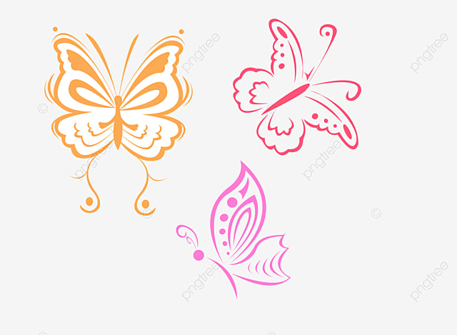 butterfly french pattern border png picture butterfly