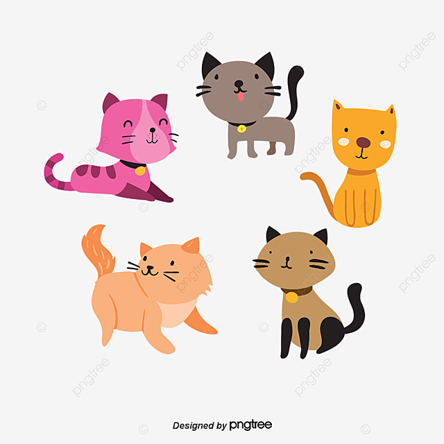 Vetor de desenho de gato vector pintados m o cartoon - Dibujos de gatos pintados ...
