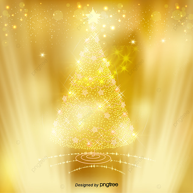 Golden Christmas Tree Festival Material Gold PNG Image And Clipart