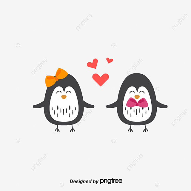 a pair of penguins de grands yeux peints  u00e0 la main l amour