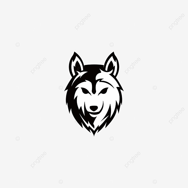cartoon wolf head, cool, cartoon, personality png image and clipart