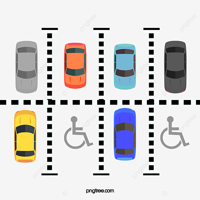 joli parking de vecteur de couleur en voiture parking automobile png et vecteur pour