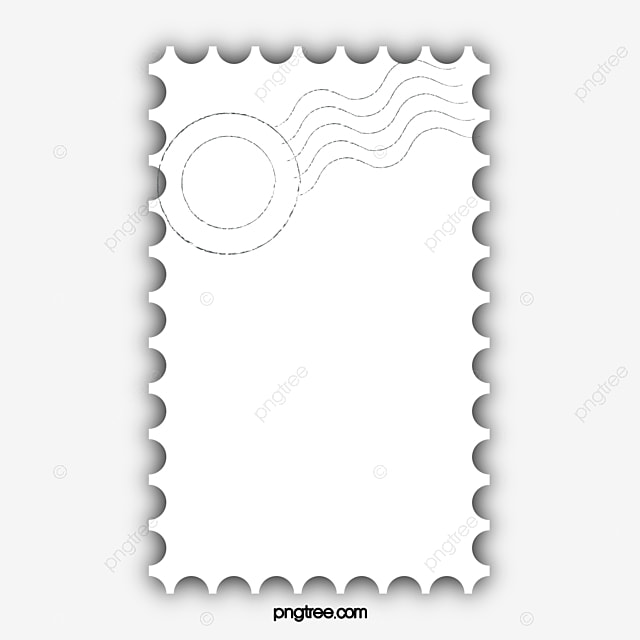 Postmark Stamp Border Texture PNG And PSD