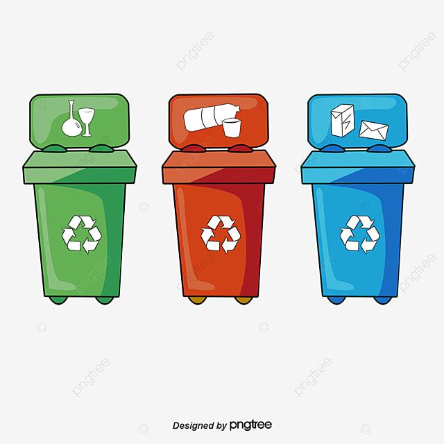 Reciclagem De Lixo Lixo A Lata De Lixo O Simbolo De Reciclagem