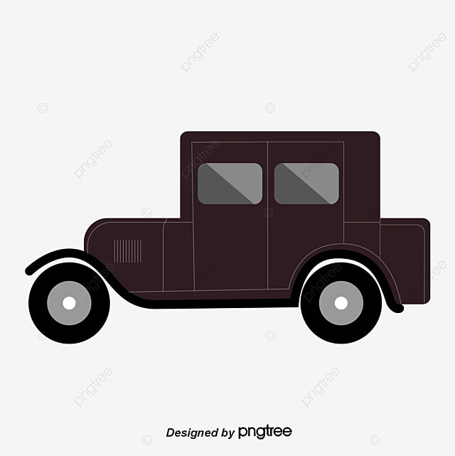 Wonderful Old Car, Car Clipart, Black, Car PNG And Vector
