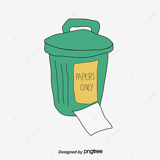 Waste paper can be recycled resources trash PNG and PSD