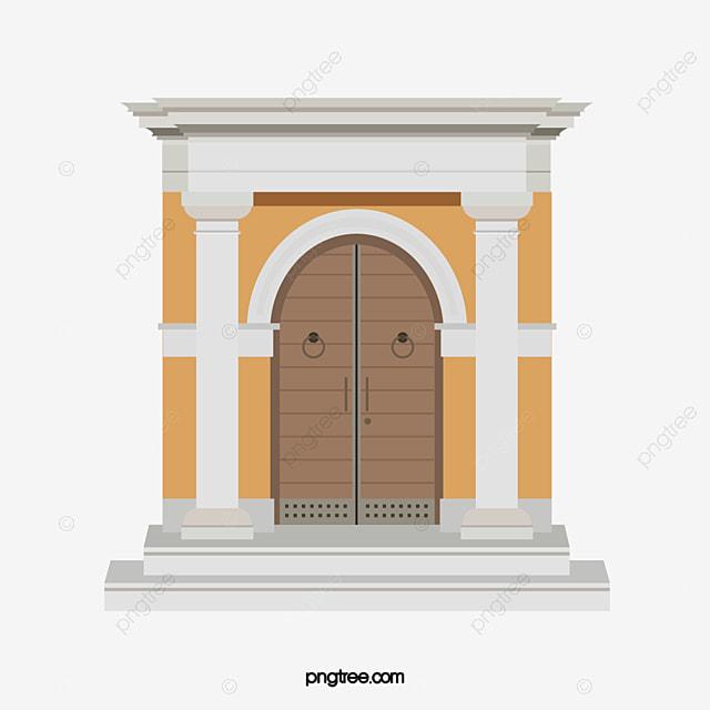 Poteau De But Et De Rome, Le Montant De Rome, Porte En Bois, De L