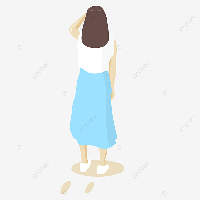 standing cartoon girl cartoon hand painted girls cartoon characters hand painted children free png image - Toddler Cartoon Characters