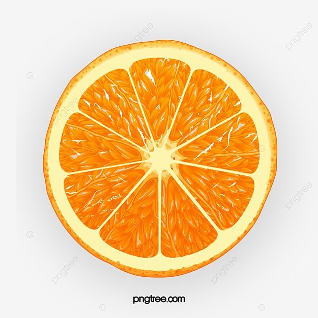 Cartoon Orange Slices Decorative Patterns Cartoon Orange