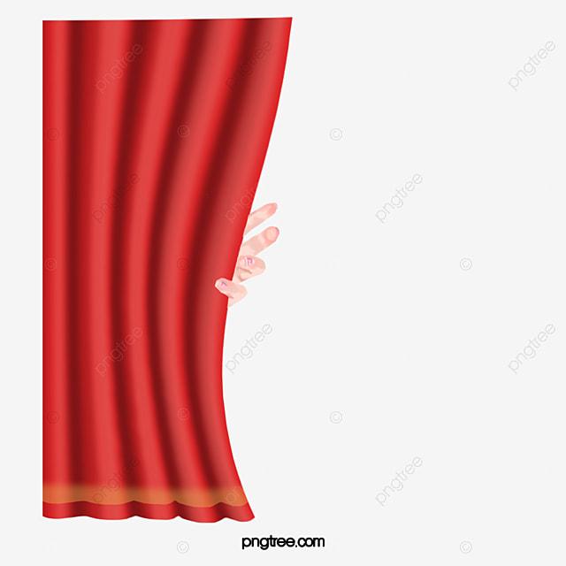 Le Rideau De Main Scène Rouge Rouge Le Rideau Théâtre Image PNG pour ...