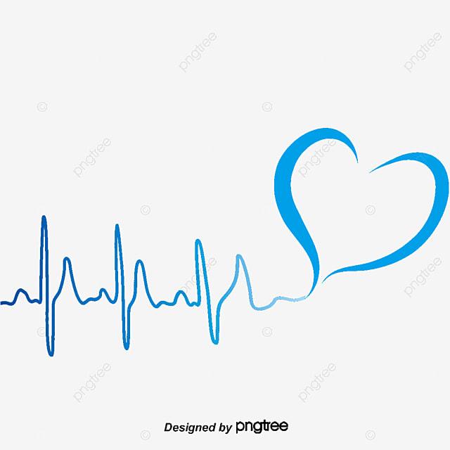 Ritmo Cardiaco Líneas Decorativas Vector Líneas