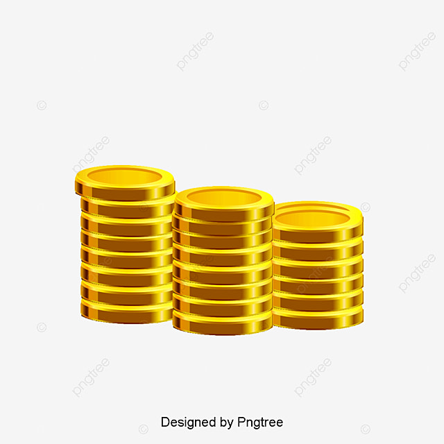 vector hand painted gold coins vector hand painted gold