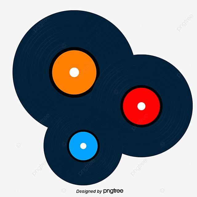 Vector de discos de vinilo decoracion nost lgico - Decoracion con discos de vinilo ...