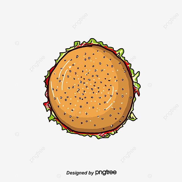Burger Top View Food Hamburger Top View Png And Psd