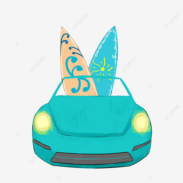 Viajes de coches de dibujos animados tabla de surf auto - Dibujos para tablas de surf ...
