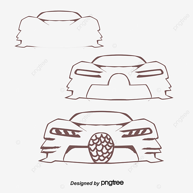 Vector Car Line Frame Png Picture, Car Clipart, Line Clipart, Frame ...