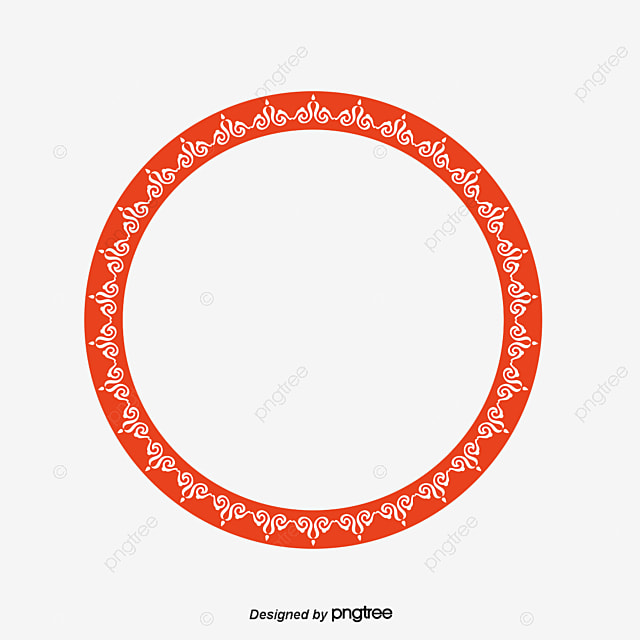 Vector Circular Chinese Border Png Picture Round Frame