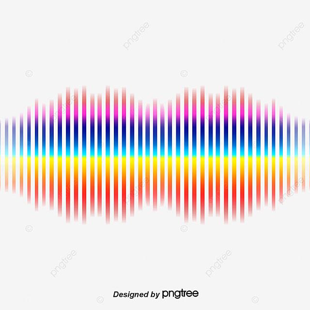 Đường Cong Màu Cầu Vồng Sóng Âm Hình Ảnh Png Vector Miễn Phí Png Và Vector