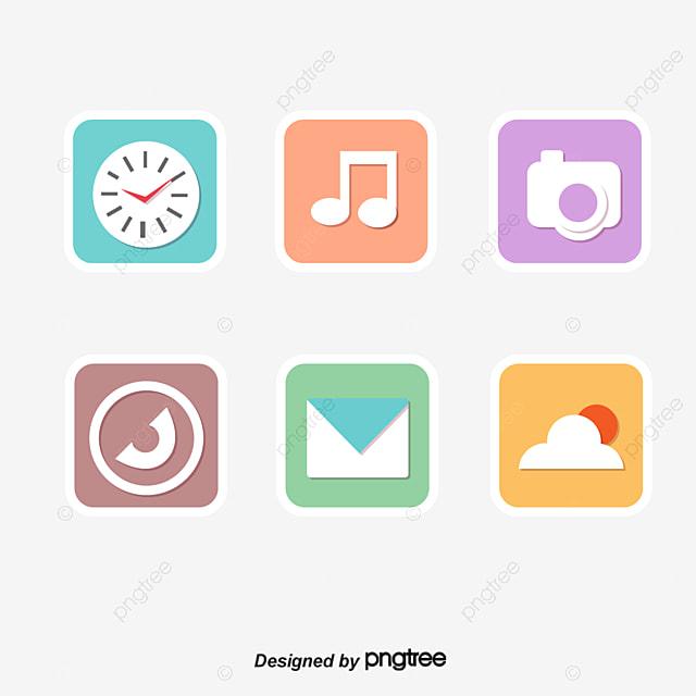 L interface de téléphone mobile des éléments logiciels logiciels.