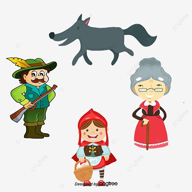 le petit chaperon rouge histoire de vecteur des contes de f u00e9es chasseur grand m u00e8re png et