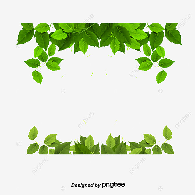 Spring Green Leaves And Flowers Background With Plants: Green Hand Painted Green Leaf Floral Background, Hand