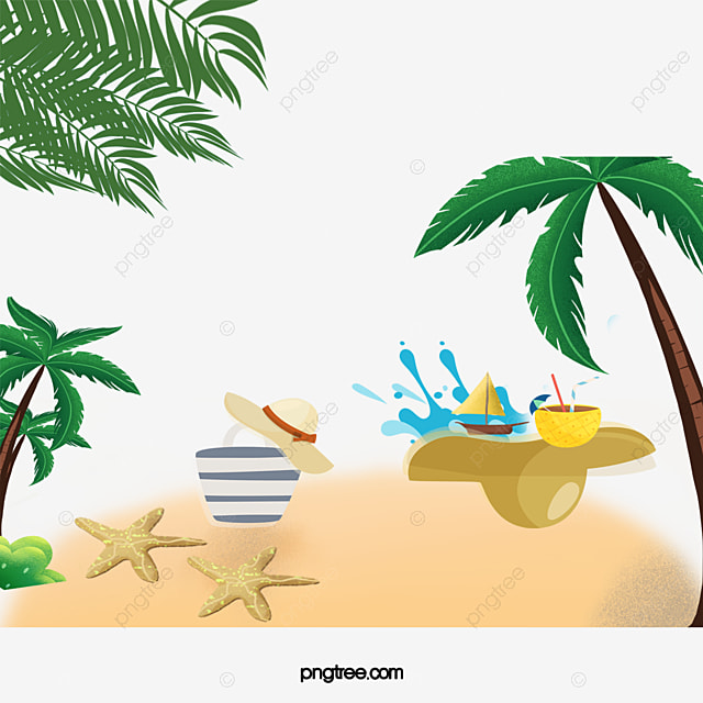 Summer Beach Resort Background Seaside Tour Png And Psd