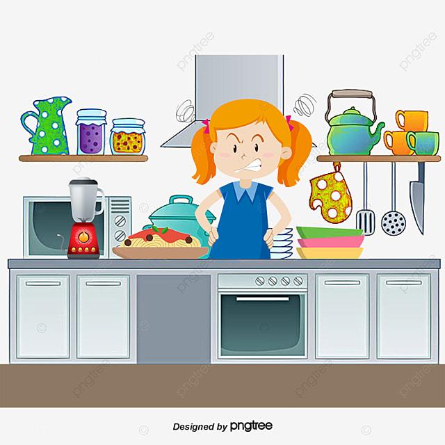 la cuisine de maman dessin peint la main cuisiner png et vecteur pour t l chargement gratuit. Black Bedroom Furniture Sets. Home Design Ideas