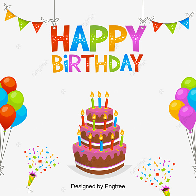 Multilayer Birthday Cake Vector Material Birthday Cake Color