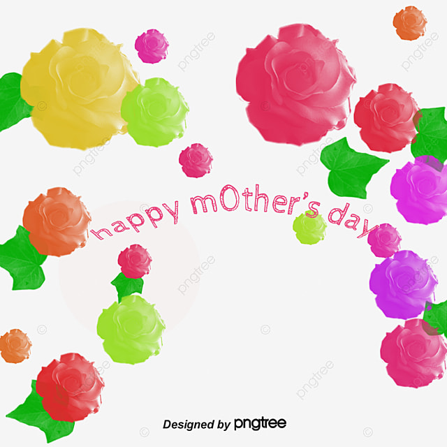 Pink Mothers Day Flyer Template For Free Download On Pngtree: Pink Lily Border, Vector Material, Mother's Day, Happy