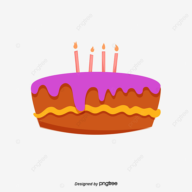 Vector Hand Painted Birthday Cake Clipart PNG And