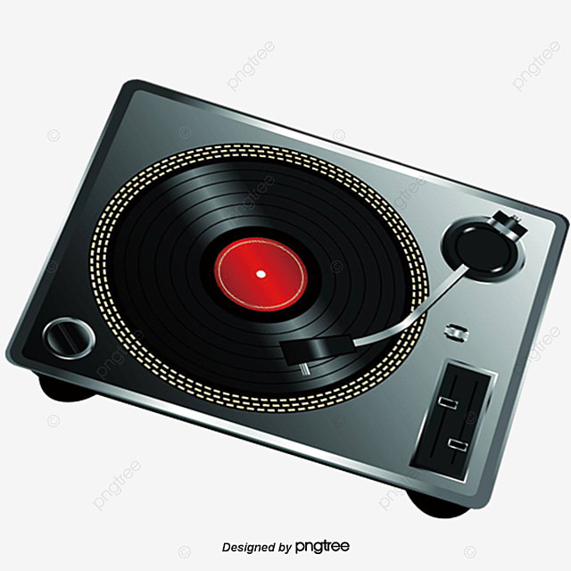 Hand Painted Dj Mixer Vector Mixing Station PNG And