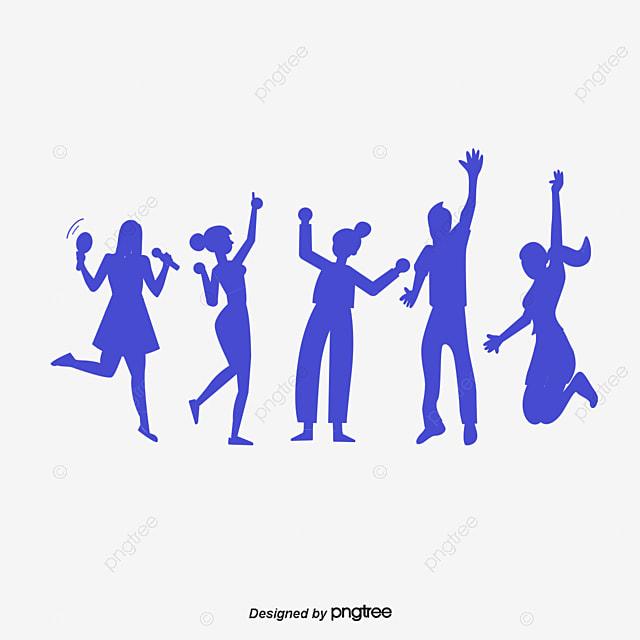 jovens  homens e mulheres de silhueta de fundo  jovens dance team clip art free dance drill team clipart